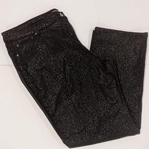 Penningtons black coated jeans sz 22